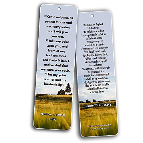 Powerful Bible Verses to Live By Bookmarks KJV (60-Pack)
