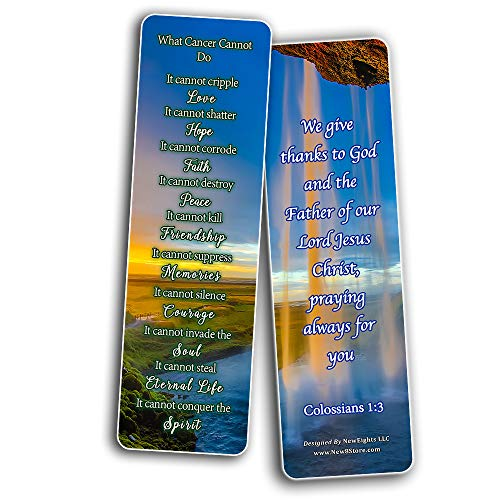 What Cancer Cannot Do Christian Bookmarks (30-Pack)
