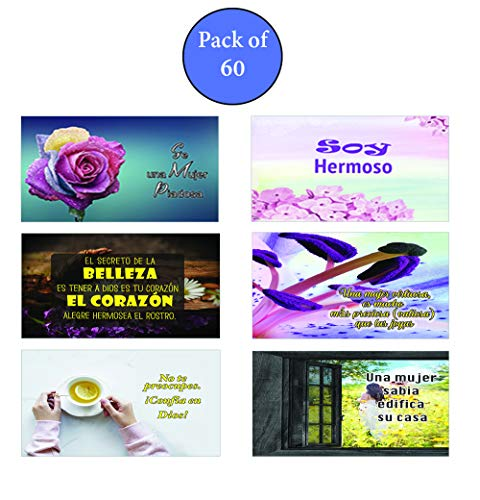Spanish Devotional Bible Verses for Women Postcards (60-Pack)
