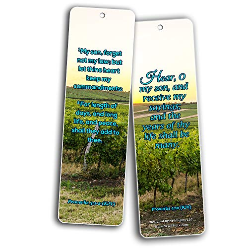 KJV Scriptures Bookmarks - Rewards for Obeying God (30-Pack) - Great Bible Text Compilation that is Handy and Easy To Bring Along With
