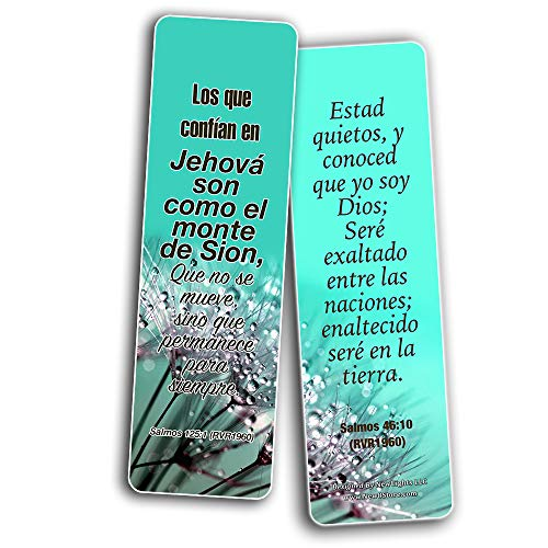 Spanish Christian Faith Scripture Bookmarks RVR1960 (30-Pack) - Variety Handy Spanish Scriptures