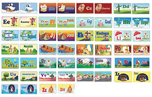 Toddler A-Z Alphabets Bible Flash Cards