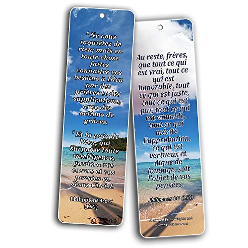 French Popular Bible Verse Bookmarks (30 Pack) - Handy Life Changing French Bible Texts