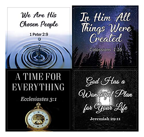 God is in Control Religious Stickers (10-Sheet) - Encouraging Colorful Stickers