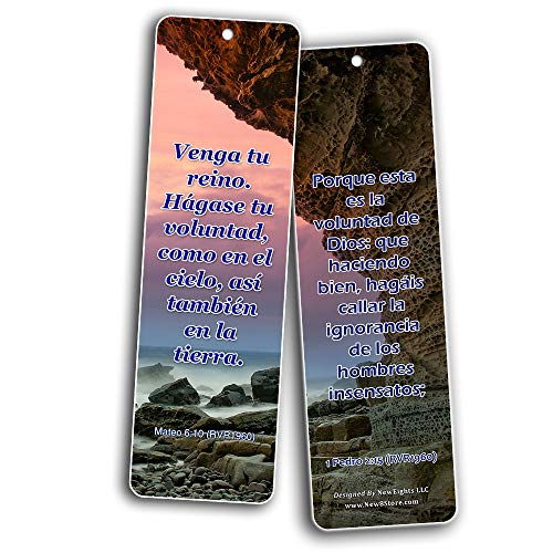 Spanish Religious Bookmarks - Bible Verses About God?s Will (30-Pack) - Great Bible Text Compilation that is Handy and Easy To Bring Along With