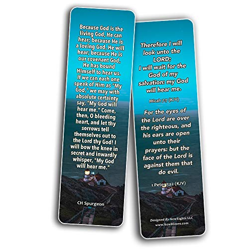 CH Spurgeon Devotional Bookmarks (30 Pack) - Handy CH Spurgeon Quotes Perfect For Your Devotional Time