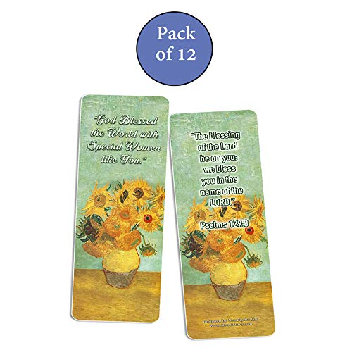 Christian Bookmarks for Women - Special Women Cards (12-Pack)