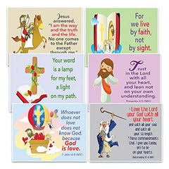 NewEights Christian Postcards for Kids - God Is Love Theme (60 Pack)