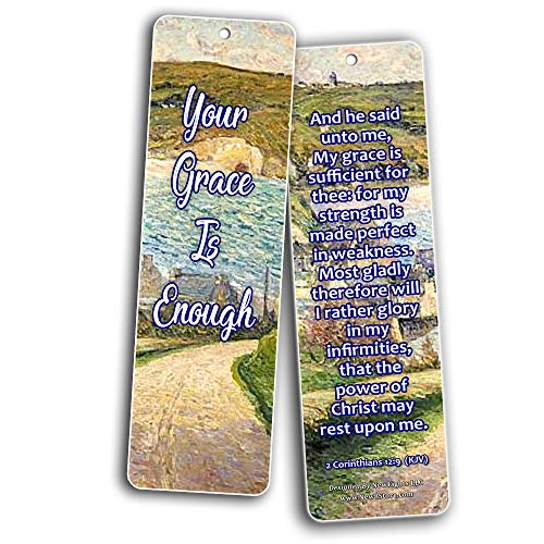 Your Grace is Enough Scripture Bookmarks (KJV) (60-Pack) - Compilation of Motivational Bible Verses