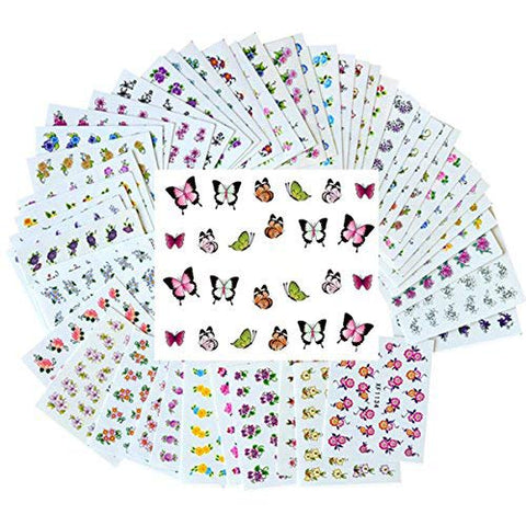 New8Beauty Nail Art Stickers Decals (50-Pack)