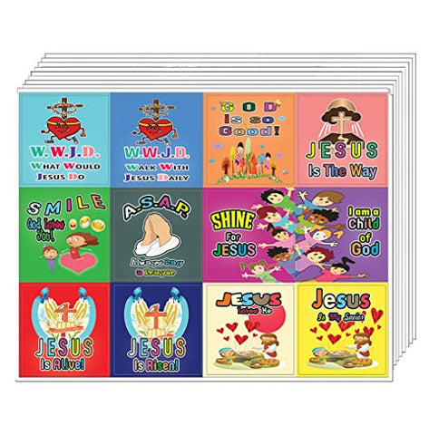 WWJD Stickers (10-Sheets)