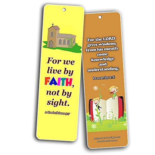 Trust in the Lord Memory Verses Bookmarks (30-Pack) - Daily Memory Verses For Children