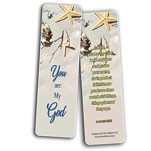 Scriptures Cards - Powerful Scriptures to Help You Worship God (60 Pack) - Reverence Bible Texts VBS Sunday School Easter Baptism Thanksgiving Christmas Rewards Encouragement Motivational Gift