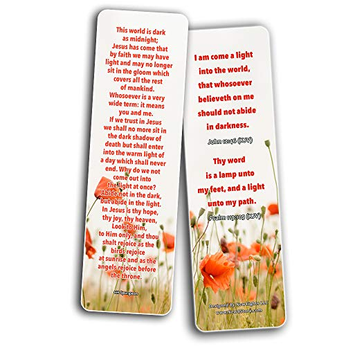 CH Spurgeon Devotional Bookmarks (60 Pack) - Quotes and Sayings from CH Spurgeon that are Simple and Easy to Read