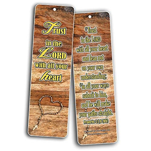 Religious Bookmarks Cards NIV (30-Pack)- Be Strong & Courageous - The Lord is My Shepherd - Christian Faith Gifts for Baptism Birthday Cell Group VBS Easter Thanksgiving -Prayer Cards - War Room