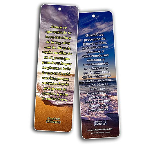 Spanish Scriptures Bookmarks - Rewards for Obeying God (30-Pack) - Great Bible Text Compilation that is Handy and Easy To Bring Along With