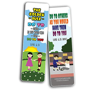 Top Bible Verses for Cultivating Good Character Bookmarks for Kids (60-Pack) - Church Memory Verse Sunday School Rewards - Christian Stocking Stuffers Birthday Party Favors Assorted Bulk Pack