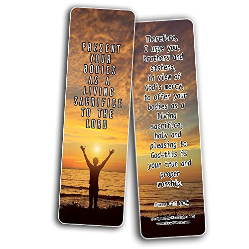 Bible Verses on Surrender to God Bookmarks (60-Pack) - Perfect Giftaway for Sunday School and Ministries