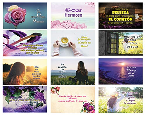 Spanish Christian Women Postcards Variety Pack NEPC1035 + NEPC1036 (60-Pack)