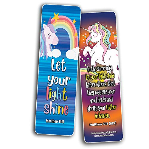 Christian Bookmarks Cards - Unicorn (60-Pack)