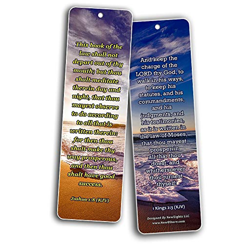 KJV Scriptures Bookmarks - Rewards for Obeying God (60-Pack) - Perfect Gift Idea for Friends and Loved Ones