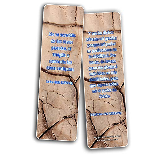 Spanish Uplifting Healing Scriptures For The Brokenhearted Bookmarks (30-Pack) - Spanish Uplifting Healing Scriptures For The Brokenhearted Bookmarks (30 Pack) - Handy Christian Daily Reminder
