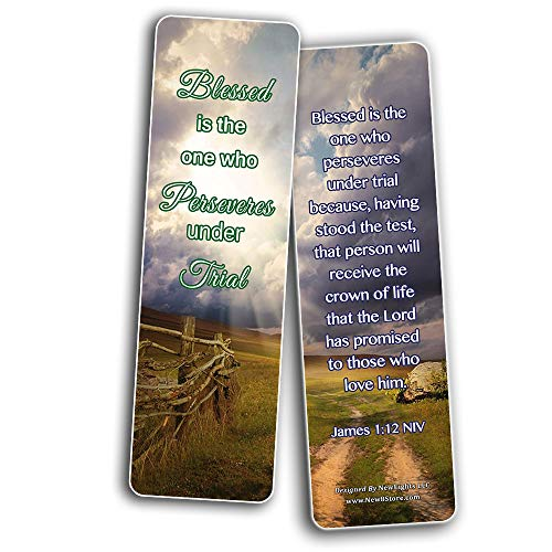 Encouraging Scriptures Bookmarks About Rewards For Obeying God (30-Pack)