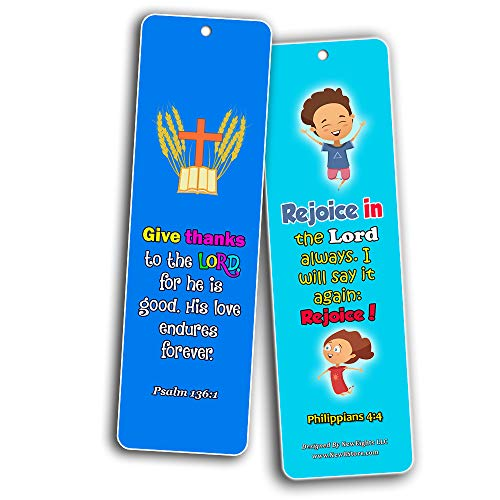 Trust in the Lord Memory Verses Bookmarks (60-Pack) - Perfect Giveaways for Sunday School, VBS and Children's Ministry