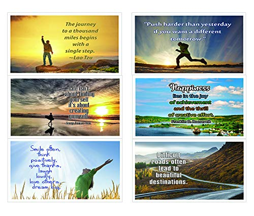 Assorted Inspirational Postcards - NEPC1001 x 2 Sets & NEPC1006 X 2 Sets