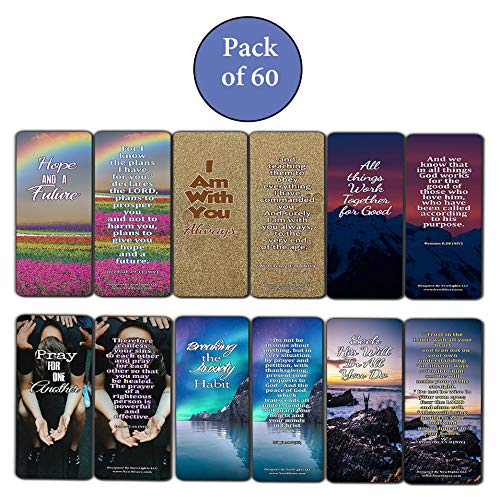 Bible Verses Bookmarks For Those Dealing With Disappointment (60 Pack) - Perfect Giftaway for Sunday School and Ministries