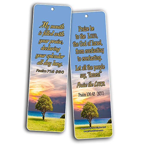 Powerful Bible Verses to Live by Bookmarks NIV (30-Pack) - Handy Bible Verses Perfect for Daily Encouragement