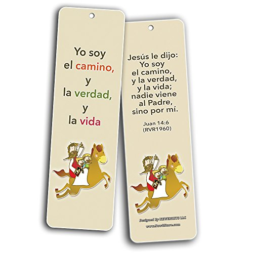 Spanish Bible Verses Bookmarks (God is Love) (12-Pack) - Variety Bookmarks with Inspirational Messages Perfect for Children Ministries Sunday Schools