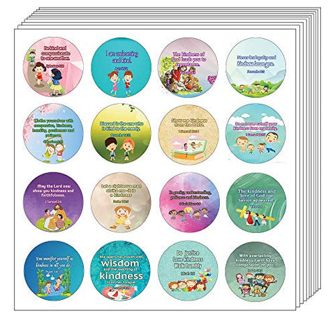 Kindness Bible Verses Stickers for Kids