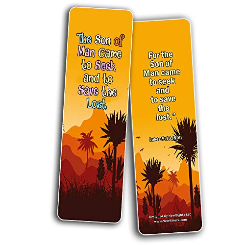 Salvation Scriptures Cards Bookmarks for Kids (60 Pack) - Perfect Gift away for Sunday School and Ministries
