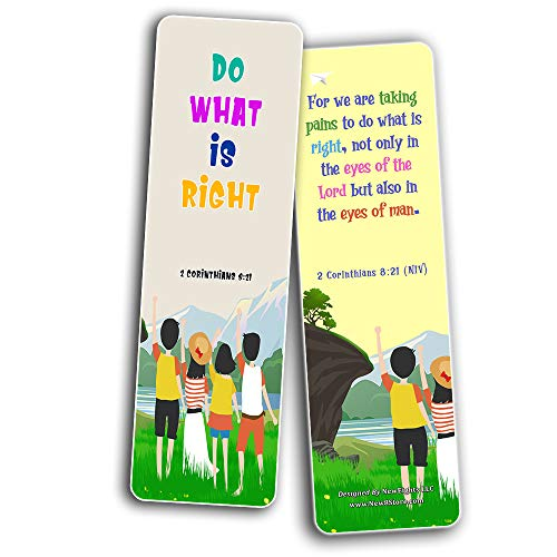 Bible Bookmarks for Kids - Cultivate Good Character (30 Pack) - Well Designed for Kids - Stocking Stuffers Adoration Devotional Bible Study - Church Ministry Supplies Classroom Teacher Giveaways