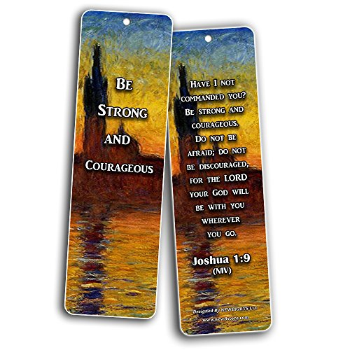 Christian Inspirational Bookmarks - Be Strong (60-Pack)