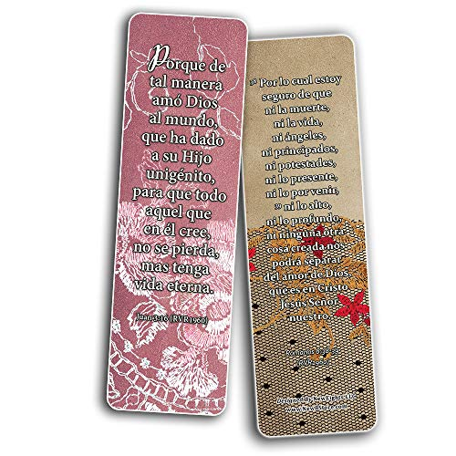 Spanish Vintage Favorite Scriptures Bookmarks for Women (60-Pack) - Great Giveaways for Ministries and Sunday Schools