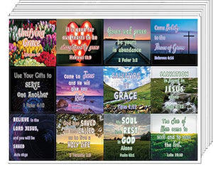 Encouraging Religious Stickers - Love and Grace of God (5-Sheet) - Great Variety Colorful Stickers