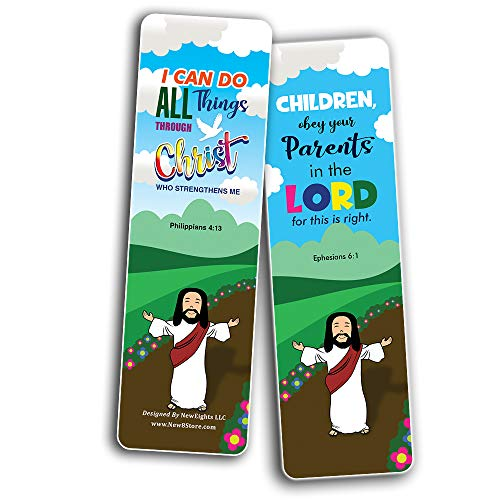 Bible Scriptures Bookmarks Cards for Kids Boys Girls