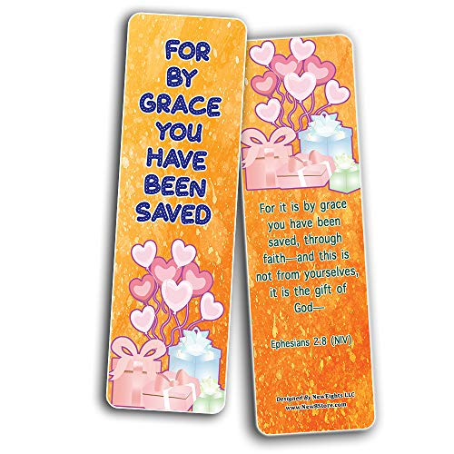Popular Bible Verses about Eternal Life Salvation Bookmarks Cards (60-Pack) - Perfect Giveaways for Sunday School, VBS and Children's Ministry