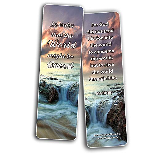 Giving Another Chance Memory Verses Bookmarks (30-Pack) - Handy Reminder About How to Stand for What is Right