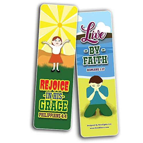 God is Good All The Time Bible Bookmarks for Kids (30-Pack) - Stocking Stuffers for Boys Girls - Children Ministry Bible Study Church Supplies Teacher Classroom Incentives Gift