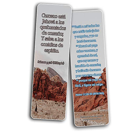 Spanish Uplifting Healing Scriptures For The Brokenhearted  Bookmarks