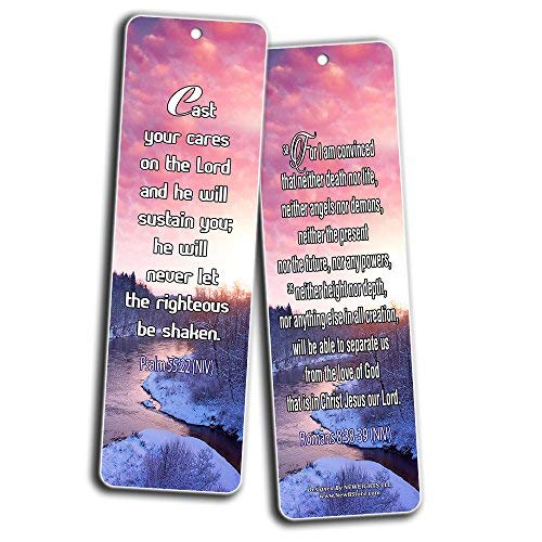 Bible Verses Bookmarks (12-Pack) (Stress and Anxiety Bible Verses)