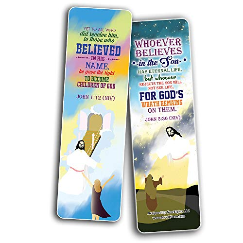 I believe in You Bible Verses Bookmarks Cards (30-Pack) - Stocking Stuffers for Boys Girls - Children Ministry Bible Study Church Supplies Teacher Classroom Incentives Gift