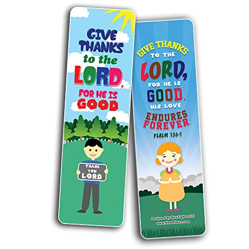 Top Bible Verses for Gratitude Bookmarks for Kids