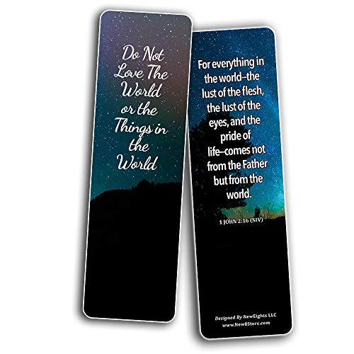 Bible Verses Bookmarks About Controlling Our Emotions (30-Pack) - Stocking Stuffers Church Ministry - Bible Study Church Supplies Teacher Classroom Incentive Gifts