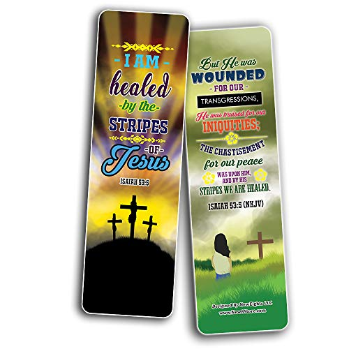 I AM Daily Declaration for Christian Bookmarks NKJV Series 3 (30-Pack) - Stocking Stuffers for Boys Girls - Children Ministry Bible Study Church Supplies Teacher Classroom Incentives Gift