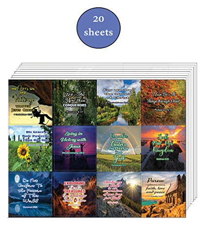 Religious Victory and Priorities in Life Stickers (20 Sheets) - Motivational Stickers