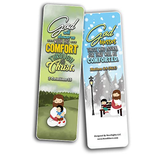God's Comfort Christian Living Bookmarks (30-Pack) - Stocking Stuffers for Boys Girls - Children Ministry Bible Study Church Supplies Teacher Classroom Incentives Gift
